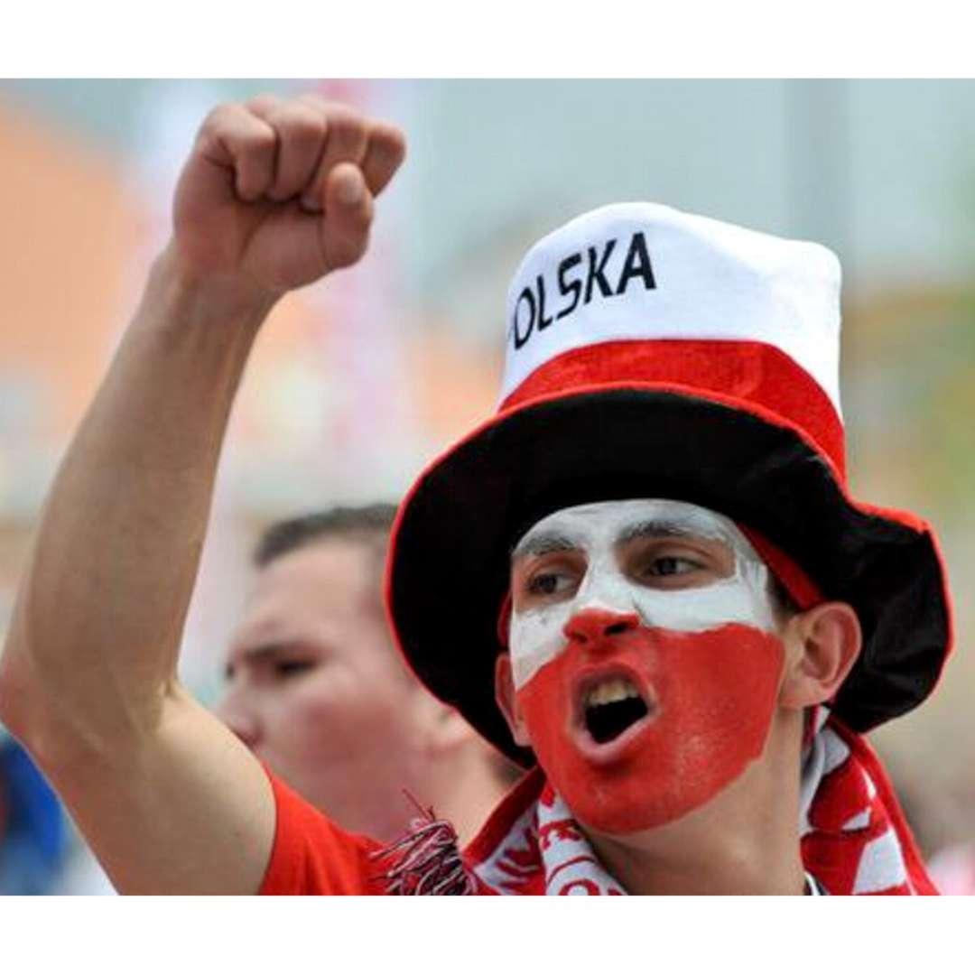 Make-up party Farbki do twarzy - Kibic biało-czerwone Arpex 2 części