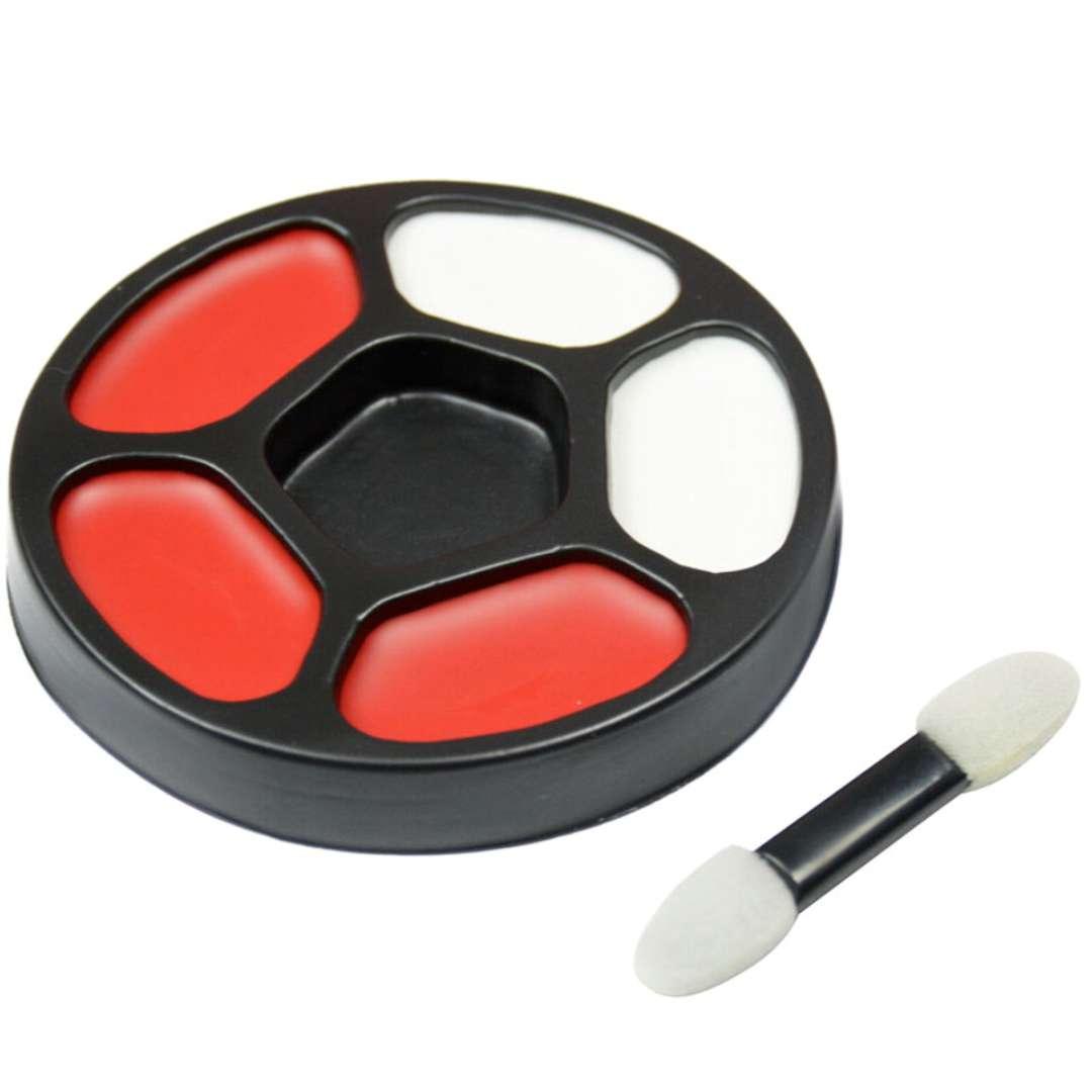 Make-up party Farba do twarzy - Kibic biało-czerwona Arpex 5 części