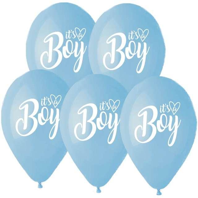 Balony Baby Shower - Boy pastelowe Gemar 13 5 szt