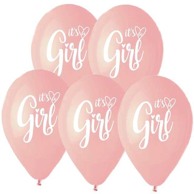 Balony Baby Shower - Girl pastelowe Gemar 13 5 szt