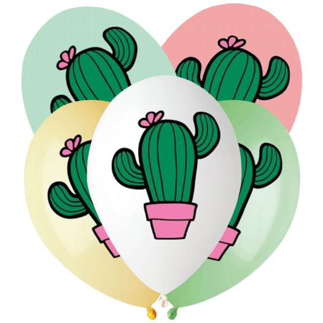 Balony Kaktusy w doniczkach mix Gemar 13 5 szt