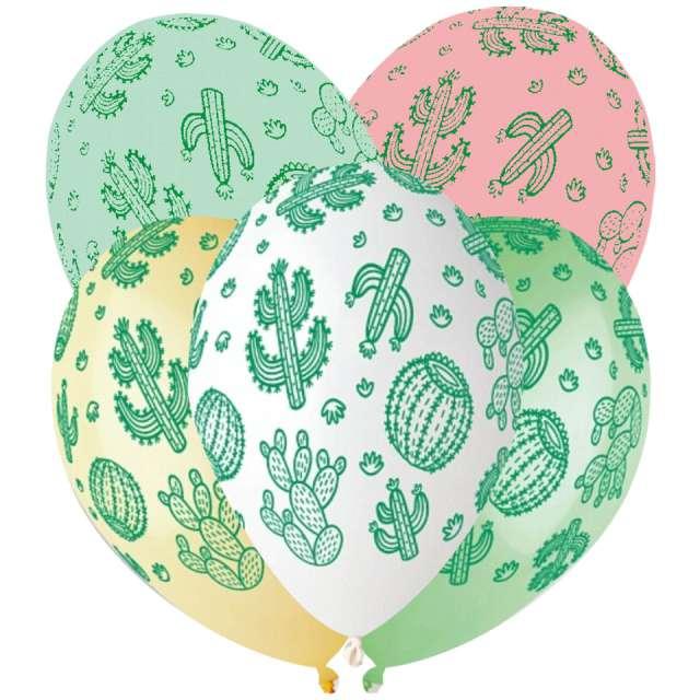 Balony Kaktusy kolorowe Gemar 13 5 szt