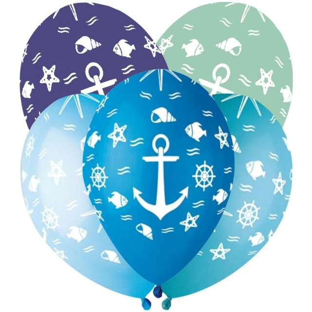 """Balony """"Podwodny świat"""", mix, Gemar, 13"""", 5szt"""