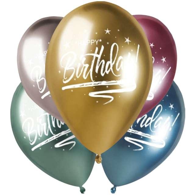 Balony Happy Birthday metaliczne Gemar 13 5 szt