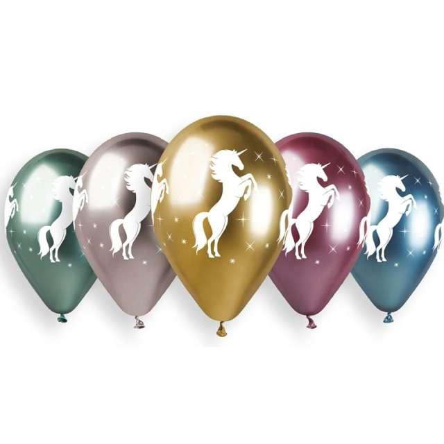 Balony Jednorożec metaliczne Gemar 13 5 szt