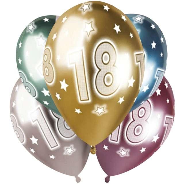 Balony 18 urodziny metaliczne Gemar 13 5 szt