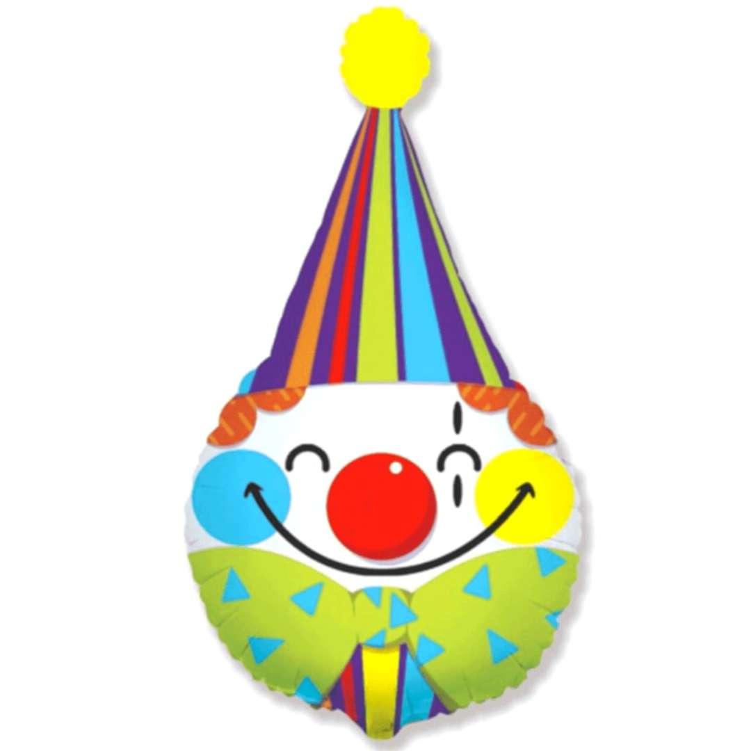 Balon foliowy Głowa klauna kolorowy Flexmetal 24 SHP