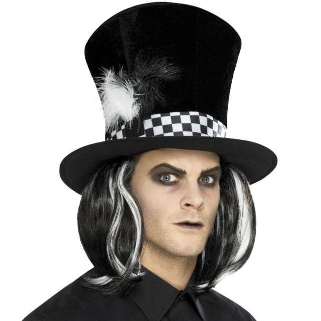 Kapelusz Cylinder kapelusznika z włosami Smiffys