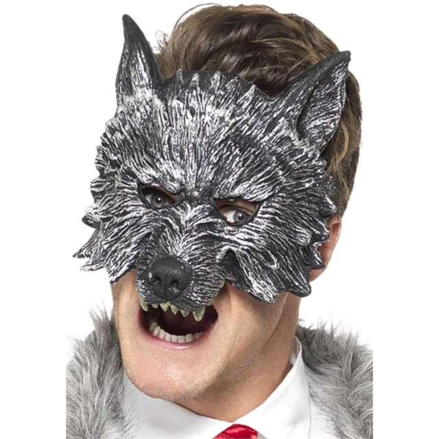 Maska karnawałowa Wilk Gotycki szara Smiffys