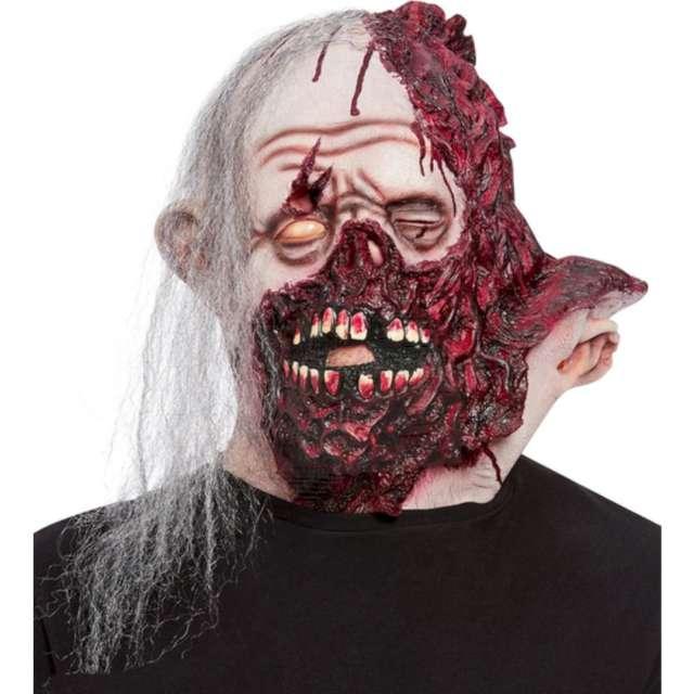 Maska Zombie z rozciętą głową lateksowa Smiffys