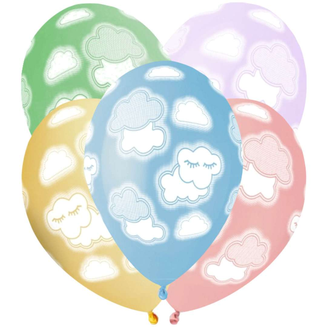 Balony Chmurki mix Gemar 13 5 szt