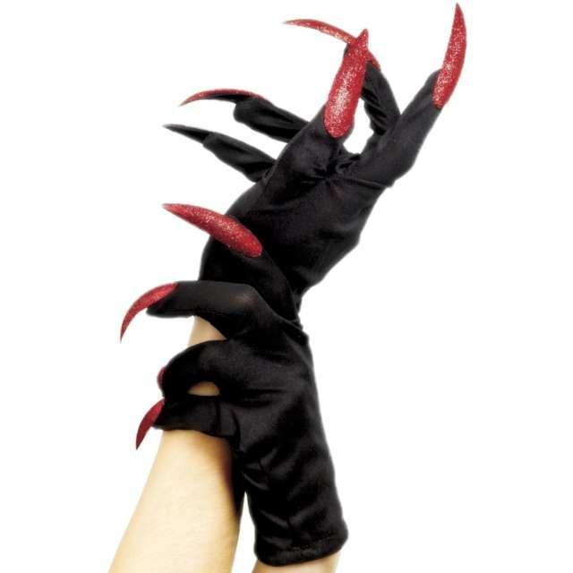 _xx_Halloween Gloves Black with Glitter Nails