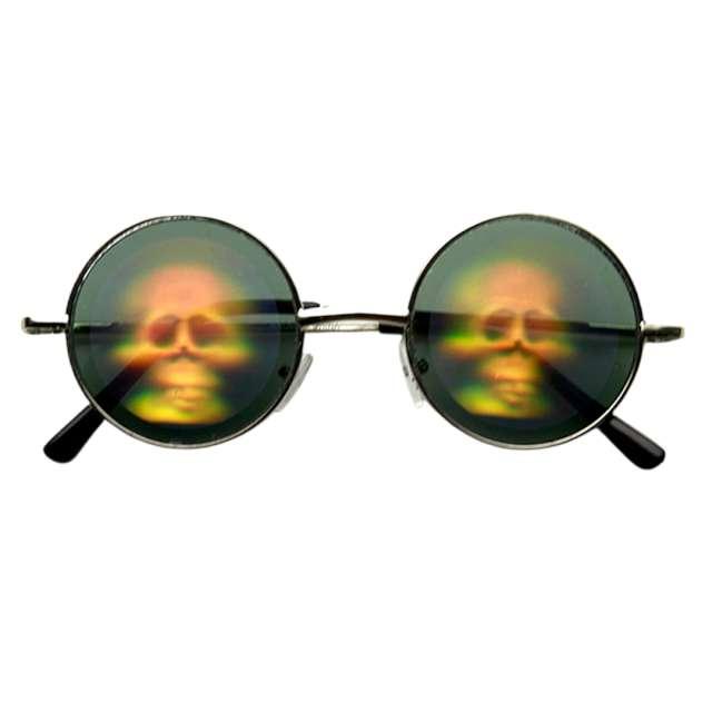 _xx_Holographic Skull Glasses Green
