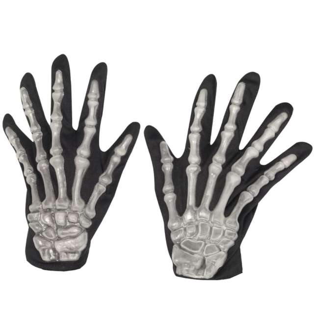_xx_Skeleton Gloves Adult Black