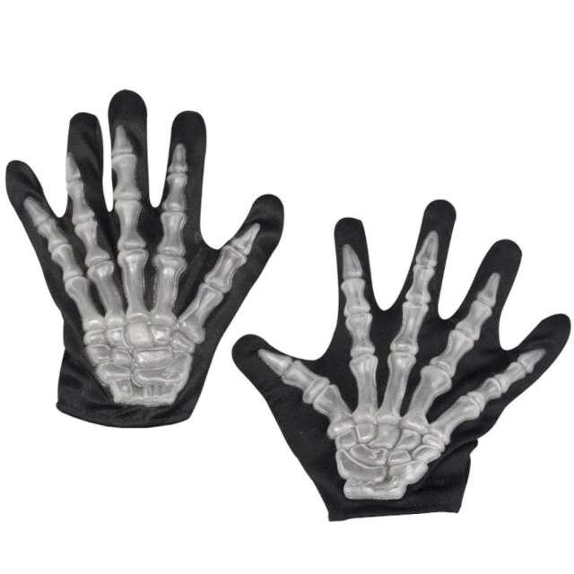 Rękawiczki Szkielet - Kościotrup czarne Smiffys
