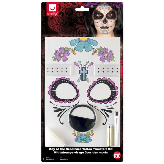 Make-up party Halloween - Meksykańska Śmierć SMIFFYS zestaw