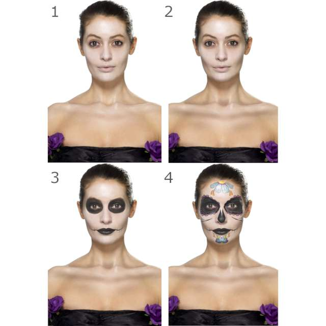 _xx_Smiffys Make-Up FX Day of the Dead aqua