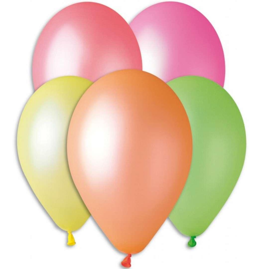 """Balony """"Fluorki"""", mix, Gemar, 12"""", 5 szt"""