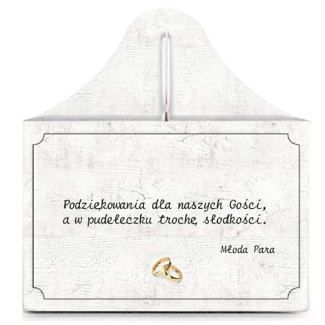 Pudełko na ciasto Słodkie Podziękowanie - Serce DekoracjePolska 5 szt.