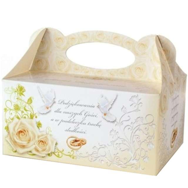 """Pudełko na ciasto """"Ślub - Podziękowanie wierszykiem"""", DekoracjePolska, 5 szt."""