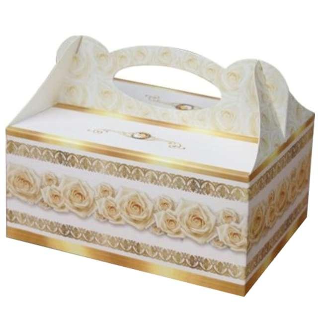 """Pudełko na ciasto """"Ślub - Podziękowanie z różami"""", DekoracjePolska, 5 szt."""