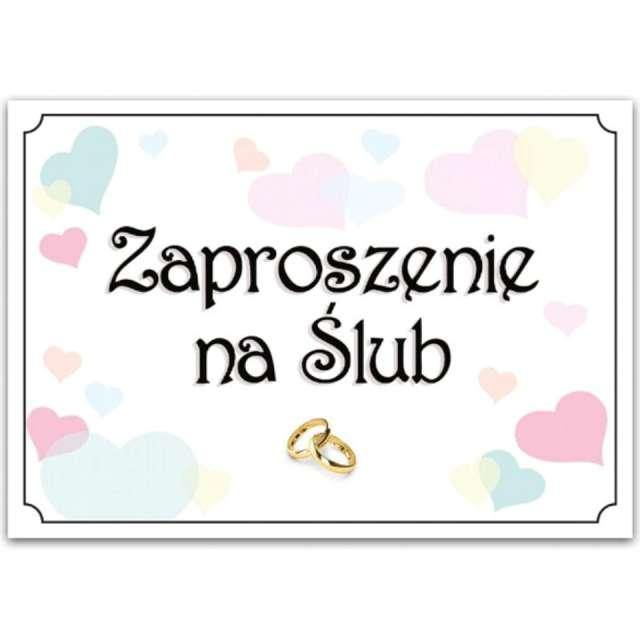Zaproszenia z kopertą Ślub: Pastel Love Dekoracje Polska 10 szt