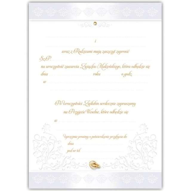 Zaproszenia z kopertą Ślub: Młoda Para Dekoracje Polska 10 szt