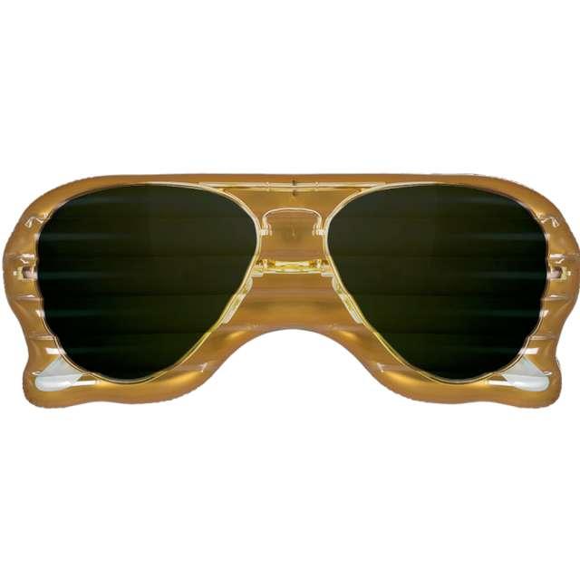 """Materac do pływania """"Okulary Przeciwsłoneczne"""", złote, Out of the Blue, 175 x 71 cm"""