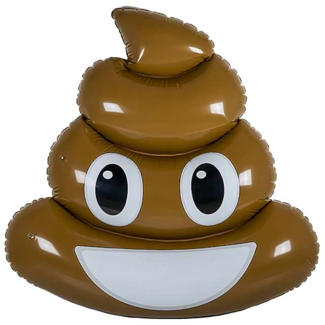 "Materac do pływania ""Emoji - Kupa"", Out of the Blue, 180 x 140 cm"