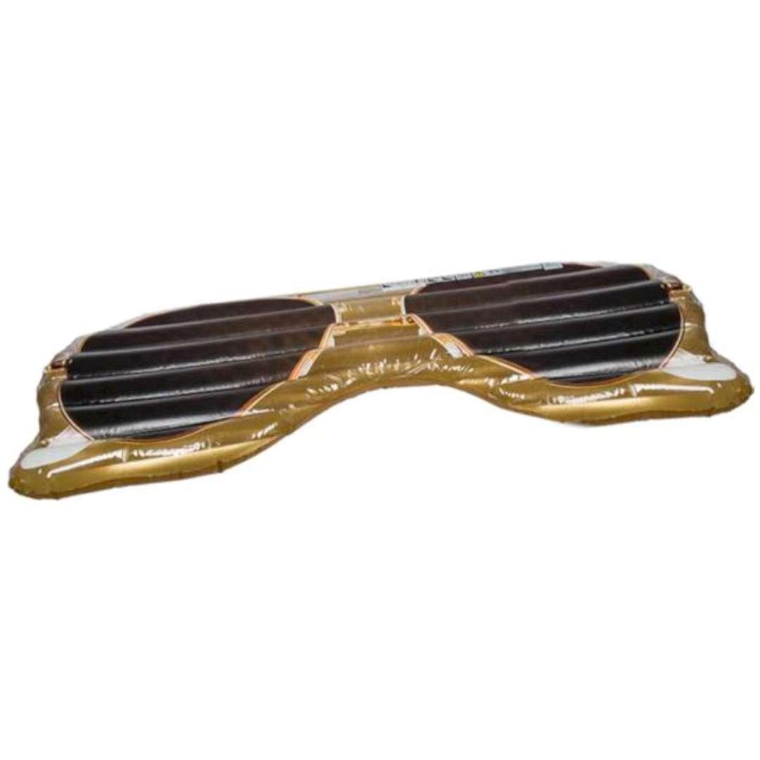 Materac do pływania Okulary Przeciwsłoneczne złote Out of the Blue 175 x 71 cm