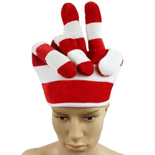 Czapka Biało-Czerwona Ręka Kibica Arpex