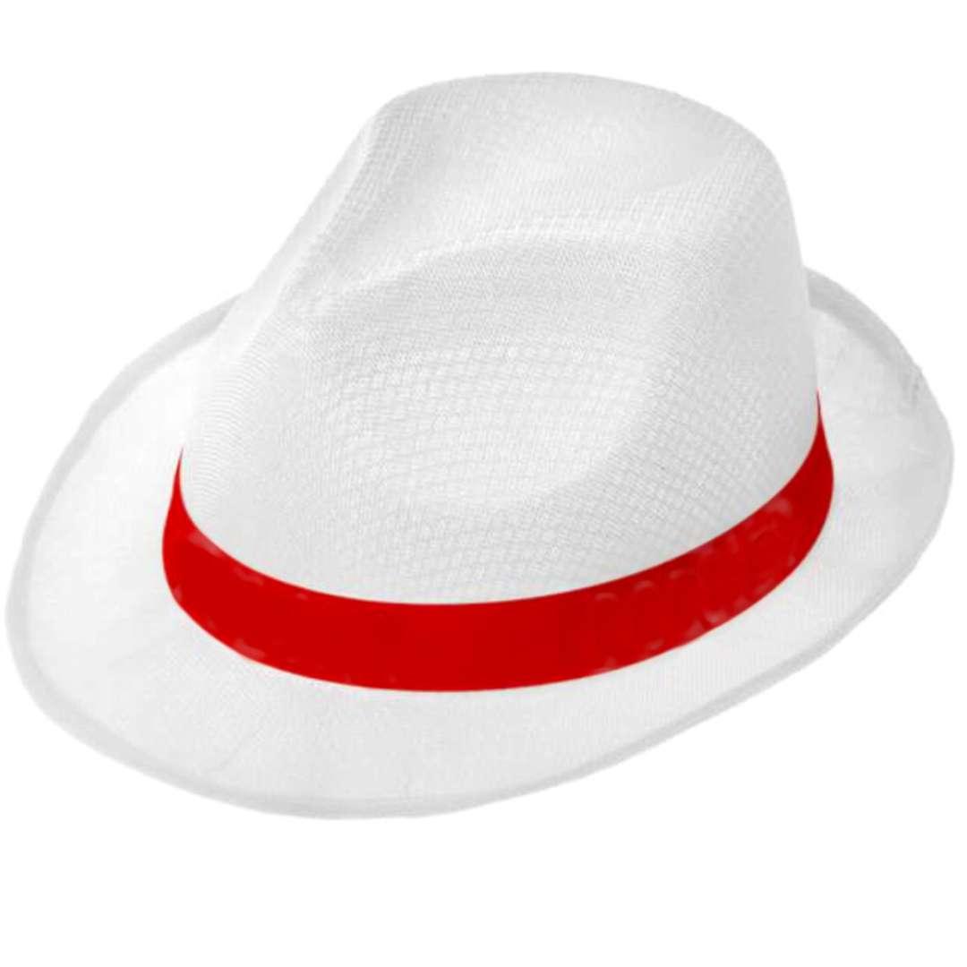 """Kapelusz """"Kibic biało-czerwoni"""", biały, Arpex"""