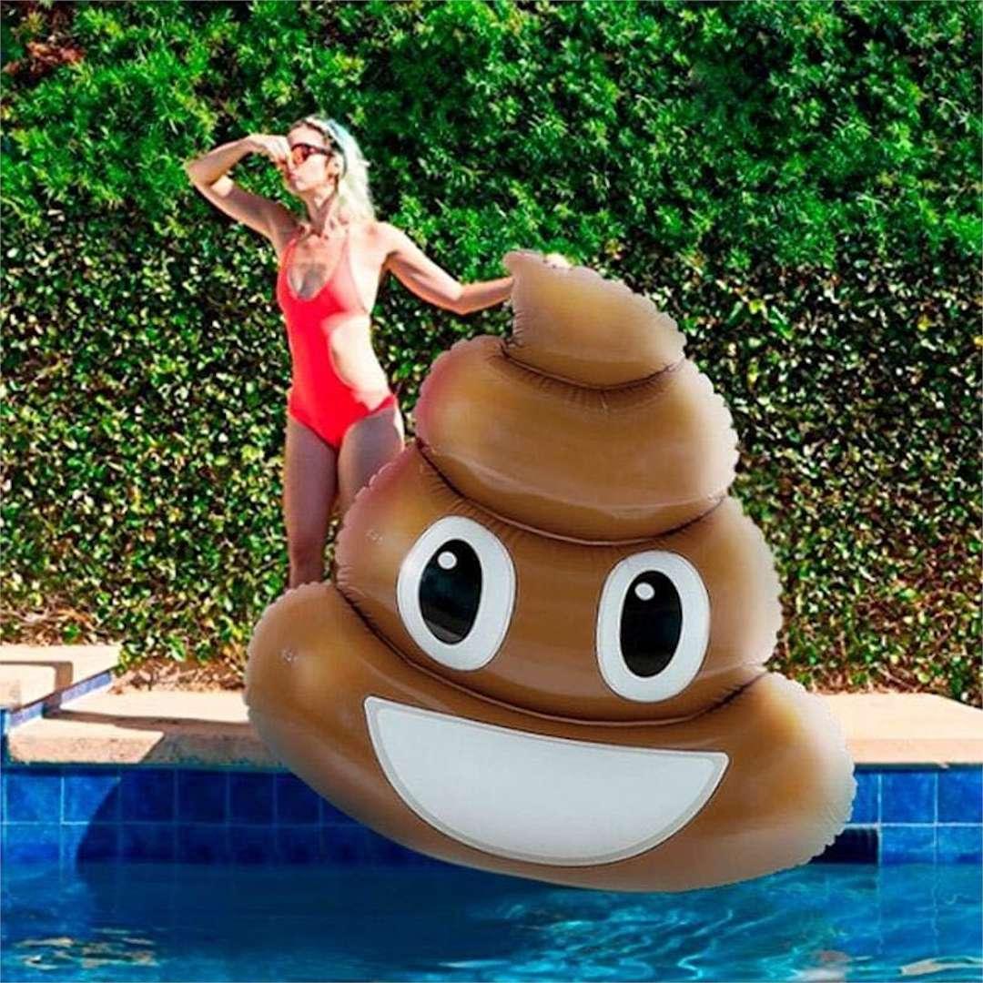 Materac do pływania Emoji - Kupa Out of the Blue 180 x 140 cm