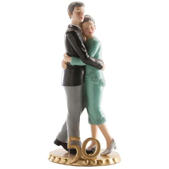 Figurka na tort Złote Gody - 50 lecie Dekora 19 cm
