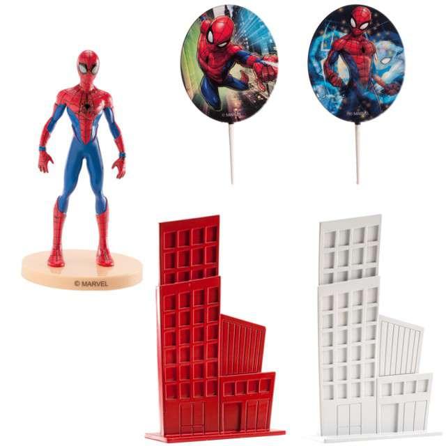 Figurka na tort Spider-Man - Toppery i wieżowce Dekora 5 szt