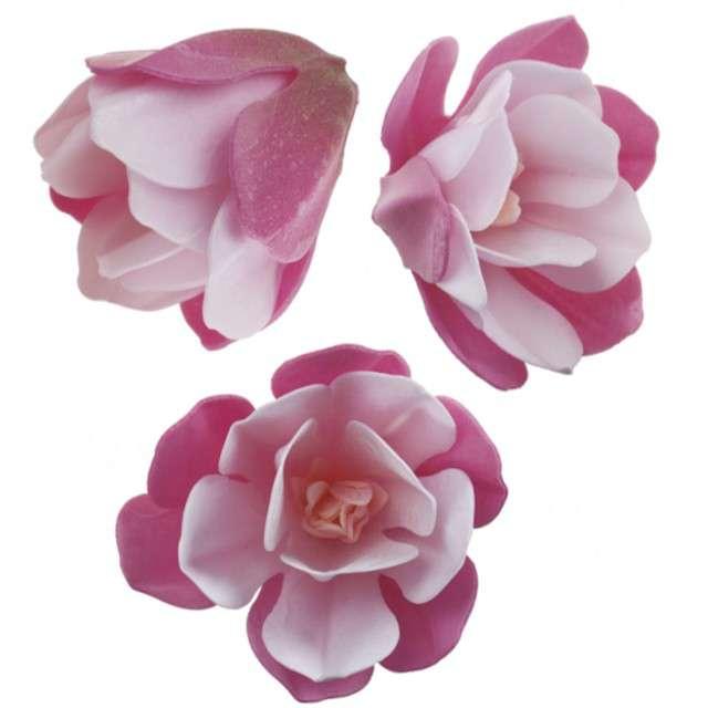 Dekoracja na tort Kwiat - Magnolia różowa Dekora 6 szt