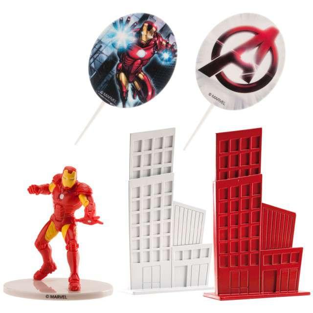"Figurka na tort ""Iron Man"", zestaw, Dekora, 8 cm"