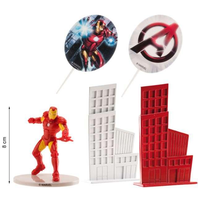 Figurka na tort Iron Man zestaw Dekora 8 cm