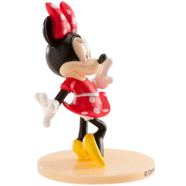 Figurka na tort Myszka Minnie kolorowa Dekora 9 cm