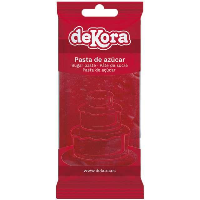 Lukier plastyczny Masa cukrowa - czerwona DeKora 250 g