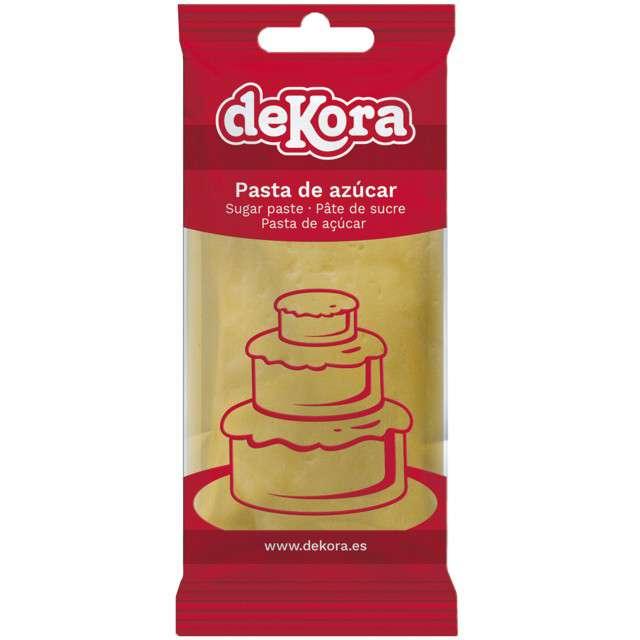Lukier plastyczny Masa cukrowa - żółta DeKora 250 g