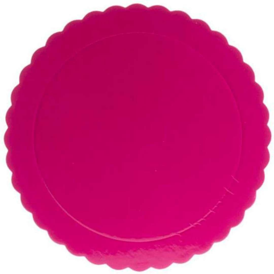 Podkład pod tort Falisty brzeg różowy Dekora 35 cm