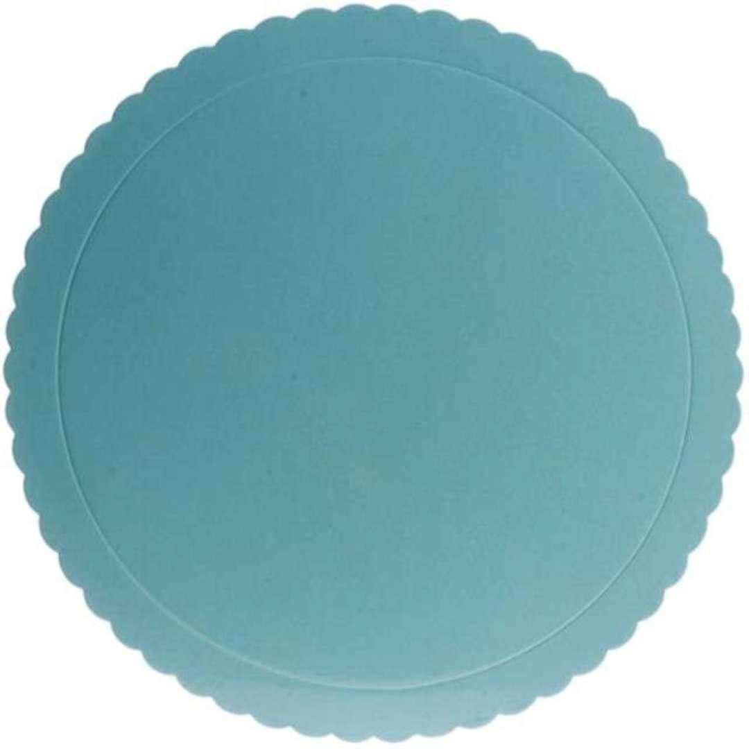 Podkład pod tort Falisty brzeg niebieski Dekora 20 cm