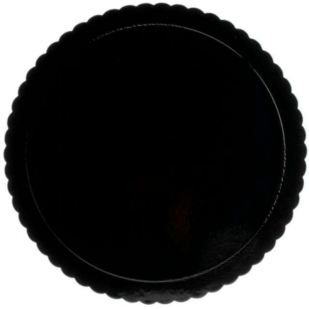 """Podkład pod tort """"Falisty brzeg"""", czarny, Dekora, 20 cm"""