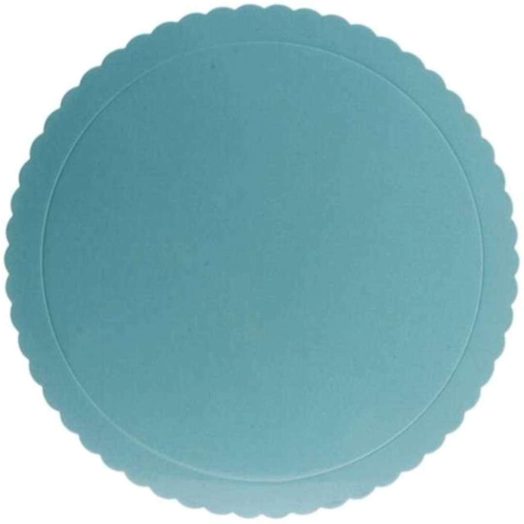 """Podkład pod tort """"Falisty brzeg"""", niebieski, Dekora, 25 cm"""