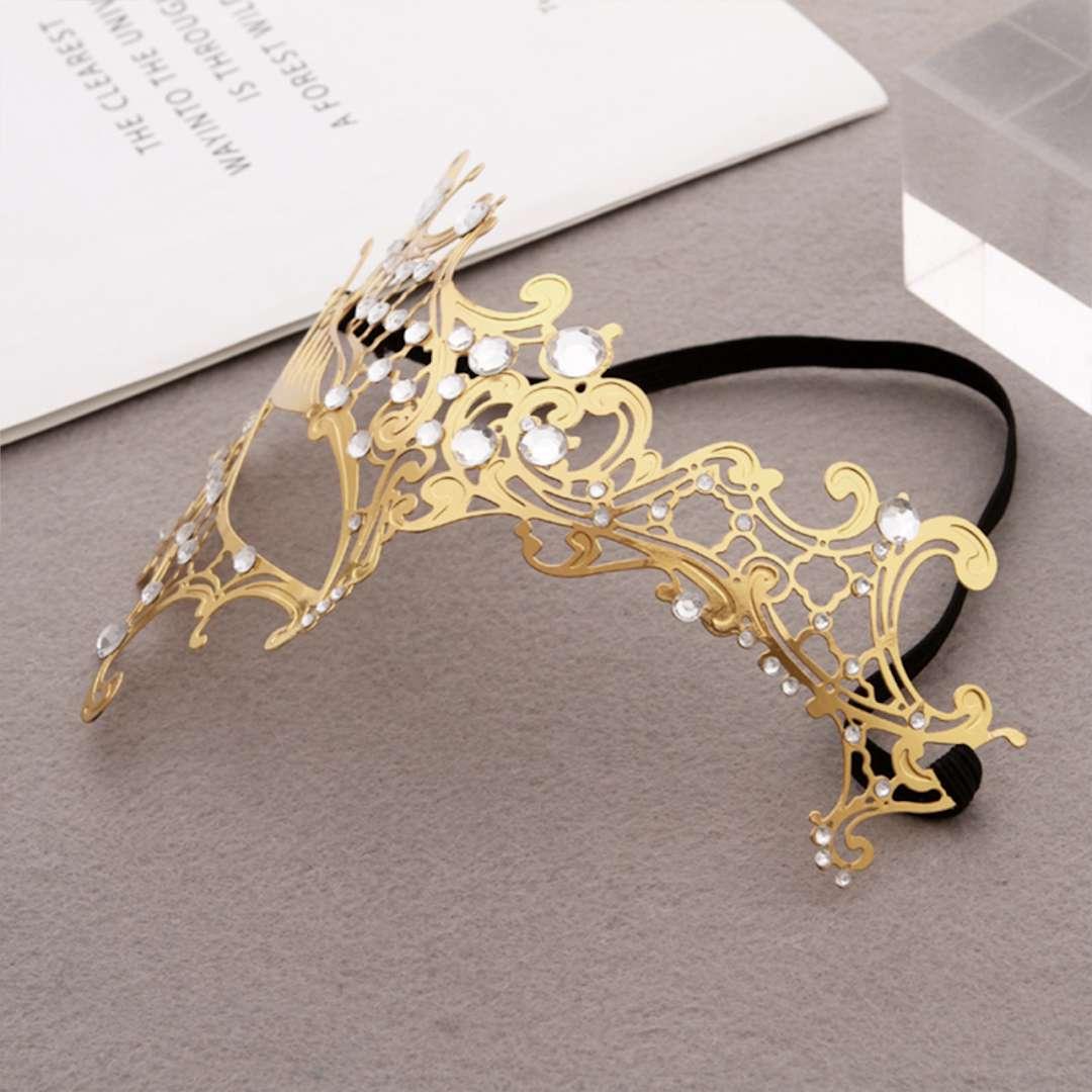 _xx_Deluxe Metal Filigree Half Eyemask Gold