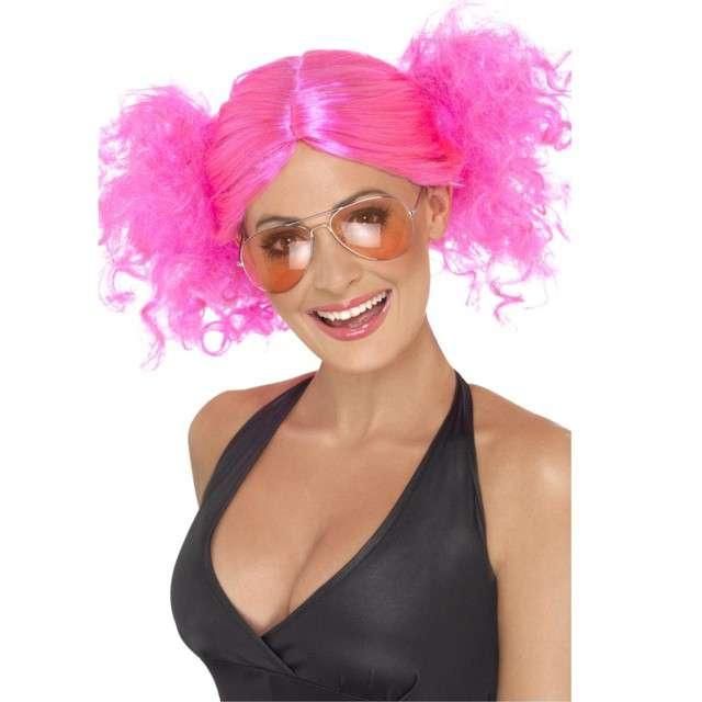 Peruka party Kicz disco różowa Smiffys