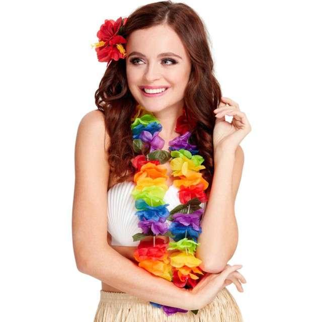Naszyjnik hawajski Kwiaty Lux kolor mix Smiffys