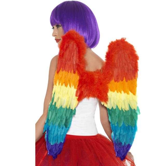 """Skrzydła anioła """"Rainbow"""", tęczowe, Smiffys, 60 x 60 cm"""