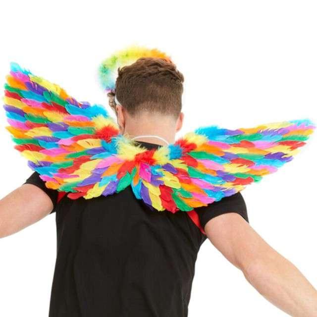 """Skrzydła anioła """"Rainbow"""", tęczowe, Smiffys, 80 cm"""